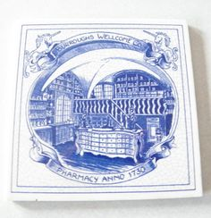 Authentic Vintage Blue Delft Tile Holland Burroughs by Calessabay, $10.95