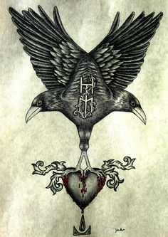 "In Norse mythology, Huginn (from Old Norse ""thought"") and Muninn (Old Norse ""memory"" or ""mind"") are a pair of ravens that fly all over the world, Midgard, and bring information to the God Odin."