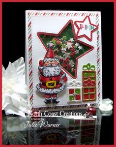 North Coast Creations Stamp Set: Ho Ho Ho, Our Daily Bread Designs Custom Dies: Double Stitched Rectangles, Pierced Rectangles, Double Stitched Stars, Sparkling Stars, Celebrate & Wish