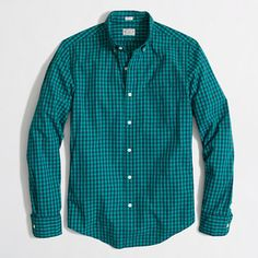 J.Crew Factory - Factory slim washed shirt in double gingham