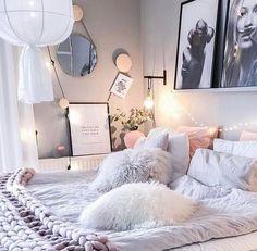 Resultado de imagen para white and rose gold bedrooms