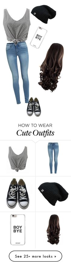 """Cute lazy outfit"" by toriz03 on Polyvore featuring Converse"