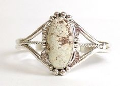 Navajo Dry Creek Turquoise Sterling Silver Cuff Bracelet - Mary Ann Spencer