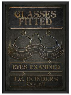 F.C. Donders Oculist by Artwork Enclosed on Gilt Home