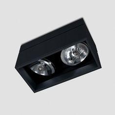 Kreon Prologe 145 double directional Spot zwart by Kreon in Plafond / Wand Opbouwspot - Spots - Binnenverlichting