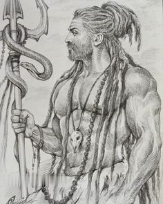 Shiva Hindu, Shiva Art, Krishna Art, Hindu Art, Hindu Deities, Lord Shiva Painting, Ganesha Painting, Lord Shiva Sketch, Shiva Tattoo Design
