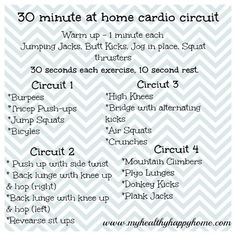 30 minute at home cardio.. @V Paea omg this is more intense than it looks!