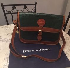 Dooney & Bourke MINT! Vtg All Weather Leather Shoulder Tote Crossbody Bag Purse #DooneyBourke #ShoulderBag BEAUTIFUL!!! Selling Price Starting at $95.00!!!