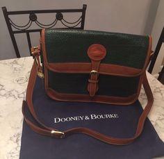 Dooney & Bourke MINT! Vtg All Weather Leather Shoulder Tote Crossbody Bag Purse #DooneyBourke #ShoulderBag BEAUTIFUL!!! Selling Price Starting at $95.00!!!