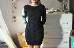 sexy black dress by thevelveteencloset on Etsy, $25.00