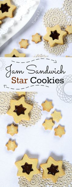 Awesome Jam Sandwich Star Cookies recipe - you can make them all year round with different cookie cutters and jams