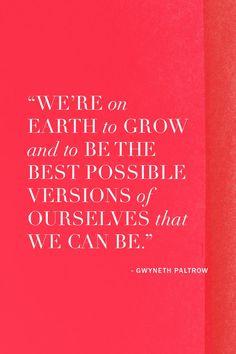 Gwyneth Paltrow advice