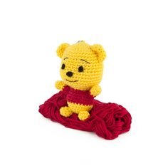 My newest creation: Winnie the Pooh! Since most of my plushies take a lot of time to make, I thought it would be nice to make a small amigurumi you can create in no time. Winnie the Pooh is only 8 cm tall and it takes just a few hours to make. With this little guy you don't have to worry about losing your keys :) Pattern is available in:  Translations: Iratxe Ocariz (ES), Monique Tredt-Gockel (DE), Anaïs Déka Bros (FR), Jette Klemmensen (DK), Bruna Otsuji (PT), Eva Schröder (SE...