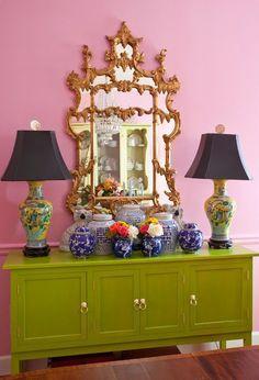 lamps mirror buffet