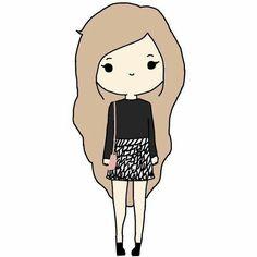 "Képtalálat a következőre: ""Oblyvian girls"" Chibi Girl Drawings, Cartoon Girl Drawing, Kawaii Drawings, Girl Cartoon, Cartoon Drawings, Cute Cartoon, Cute Drawings, Chibi Drawing, Batman Cartoon"