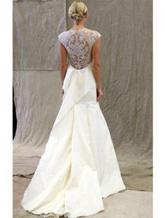 Lela Rose wedding gown, spectacular back