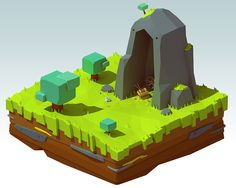 Treasure island (lowpoly) on Behance