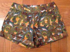Aso Damisi Print Summer Mini Short Cuffed Shorts Multi, $19.50 on @Tradesy.com