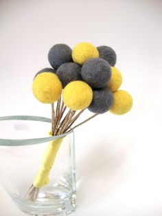 Felted wool balls, vase filler