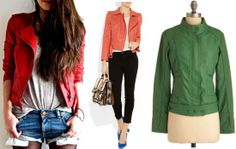 Colorful biker/moto jackets trend