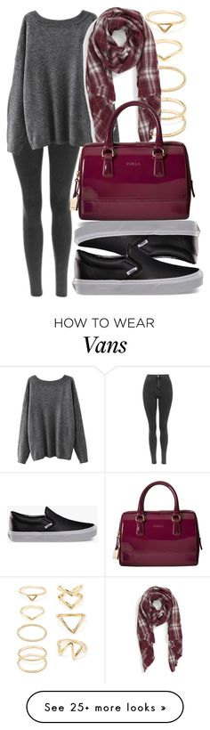 """#760"" by kekka199 on Polyvore featuring Vans, Forever 21, Sole Society and Furla"
