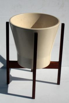 Danish Modern Mid century pottery planter & stand.....would love to own it....but so expensive!