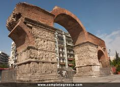 Arch of Galerius (Kamara), Thessaloniki Ancient Monument Greece Tours, Greece Travel, Ancient Ruins, Ancient History, Cultural Capital, Byzantine Art, Roman Art, Archaeological Site, Macedonia