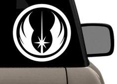 Star Wars Jedi Knight Order Logo Vinyl Decal Knight Orders, Jedi Knight, Star Wars Jedi, Battlestar Galactica, Volkswagen Logo, Vinyl Decals, Lounge, Game, How To Make