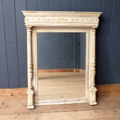 This carved French column mirror has a great classical look, and would be an elegant addition to any room.  Love the look? We also have a very similar mirror in stock with a double column surround.  #cheshire #reclamation #salvage #antiques #collectables #vintage #retro #home #garden #design #interiordesign #furniture #antique #design #reclaimed #rustic #industrial