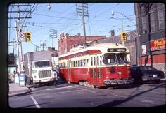 TTC Toronto original rail slide PCC # 4326 taken 1982