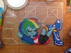 MLP Equestria Girls Rainbow Dash perler beads by MoonSplashpony on deviantART
