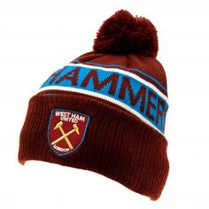 Ski Hat - West Ham United F.C (TX): Knitted Ski Hat Keeping the head warm as you watch your team march to glory on a cold night. Product Information 1 x Adult Knitted Hat Bobble Style Embroidered Crest One Size Fits All Official Licensed Product West Ham Fans, West Ham United Fc, Men Shower, Baby Boy Pajamas, European Soccer, Ski Hats, Body Warmer, Professional Football, Football Fans