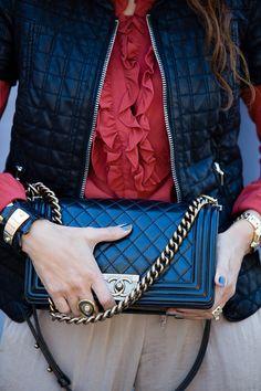 chanel boy bag  gurhan ring  crossbody bag Chanel Boy Bag 016c204724be9