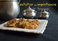 Cocinando en Mislares: PATATAS a la IMPORTANCIA con LONGANIZA