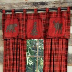 Moose Curtains Are A Popular Way To Give A Log Cabin Home A Rustic Décor  With