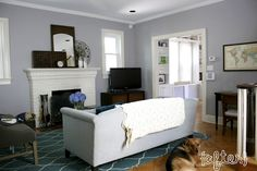 The color we are painting our house...Porpoise by Behr Paint