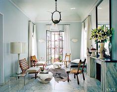 The Tangier home of Bruno Frisoni and his partner Hervé Van der Straeten as featured in Vogue. Photo by François Halard