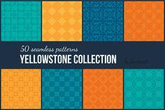 Yellowstone: 50 Seamless Patterns by Favete Art on Creative Market