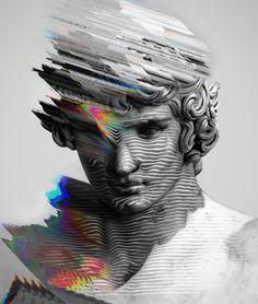 Resultado de imagem para digital collage art glitch