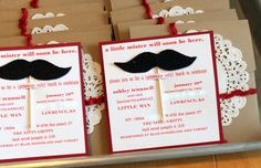 A mustache themed baby shower for a little boy?! Hilarious and adorable. Keeping that theme in my back pocket!