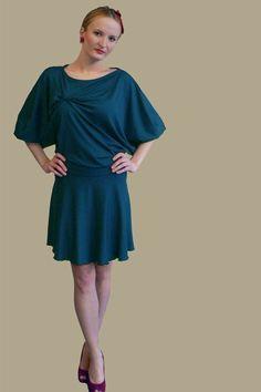 ManduTrap Dress Nachtfalter  petrol von ManduTrap auf Etsy, €79,00    $102  #Kleid #dress #petrol #wedding #weihnachten #silvester #christmas #newyear #batwings #jersey #Fledermausärmel