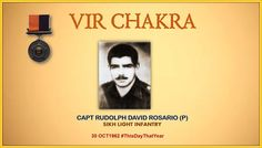 Captain Rosario displayed exemplary courage leadership & devotion to duty in the best traditions of Army. Awarded #http://VirChakrapic.twitter.com/uxIrbO02Ej #IndianArmy #Army