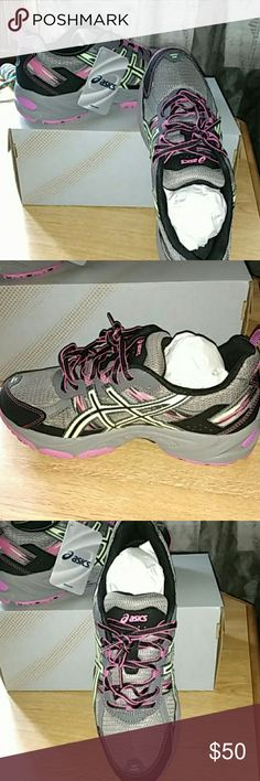 Asics Gel-Venture 5D 8.5 Wide Width Asics Gel-Venture 5D 8.5 Wide Width. Brand new in original box. Purchased as gift and forgot to return in time. Only tried on once for sizing. Asics Shoes Athletic Shoes