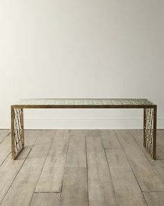 Nerian Glass Coffee Table - traditional - coffee tables - Horchow $979