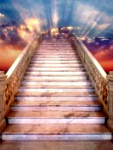 The stairway to Heaven. Salvation and every lasting life a waits. Stairway To Heaven Tattoo, Stairs To Heaven, Gates Of Heaven Tattoo, Heaven Pictures, Jesus Pictures, Images Ciel, Heaven Tattoos, Image Jesus, Heaven's Gate
