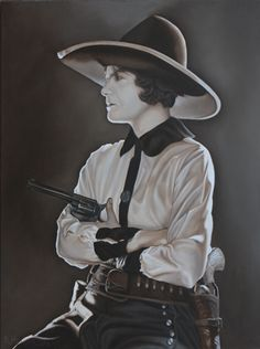 Daughter of the West, oil on linen, 40 x 30    This painting is based on a 1920's era Silent Screen Cowgirl. The sepia tone captures the feeling of the first images of Cowgirls.    This painting will soon be on it's way to Lovetts Gallery in Tulsa. Contact me for more information about this or other paintings http://khendersonart2.blogspot.com/