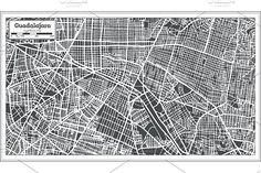 #Guadalajara #Mexico #City #Map in #Retro by Igor Sorokin on @creativemarket