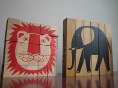 Animal puzzles, Naef