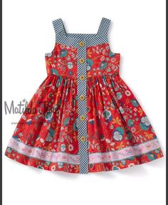 Children Clothing High Road Dress – Matilda Jane Clothing You are in the right place about Childr… Kids Frocks, Frocks For Girls, Kids Outfits Girls, Little Girl Dresses, Girl Outfits, Girls Frock Design, Baby Dress Design, Kids Dress Wear, Baby Girl Dress Patterns