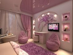 women bedroom interior design trends and wall decoration ideas 2019 Woman Bedroom, Girls Bedroom, Bedroom Decor, Bedroom Ideas, Dream Rooms, Dream Bedroom, My Room, Girl Room, Teenage Room Decor